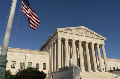 FILE - The Supreme Court is seen in Washington on April 20, 2018.