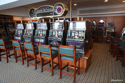 The casino is seen inside the Queen Elizabeth II cruise ship, launched as a hotel, in Dubai, UAE, April 18, 2018.