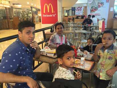 Vijay Deoli sees no harms in an occasional outing with his family to have a burger.