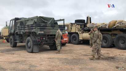 Military camp in  Donna, Texas, preparing for border patrol