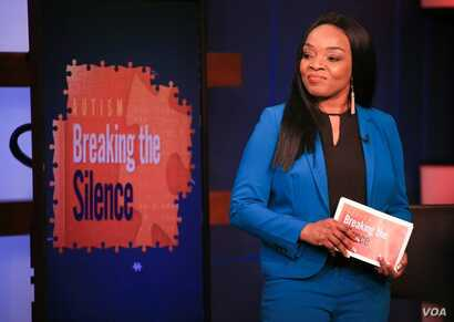 """Health reporter Linord Moudou moderates a panel discussion on autism for """"Straight Talk Africa."""""""