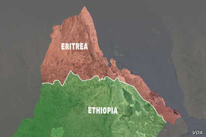Eritrea and Ethiopia Border Map