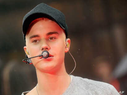 "Justin Bieber performs on NBC's ""Today"" show, Sept. 11, 2015."