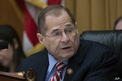 House Judiciary Committee Chairman Jerrold Nadler, D-N.Y., leads his panel on a hearing about executive privilege and congressional oversight, on Capitol Hill in Washington, Wednesday, May 15, 2019.