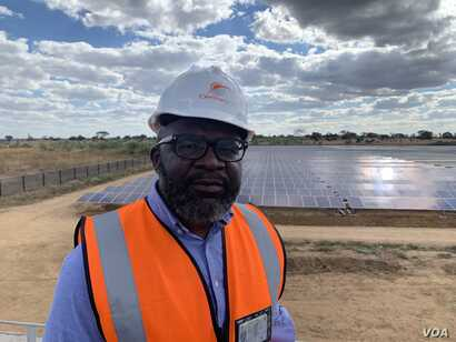 Victor Utedzi founder and director of CentralGrid, a company that is building a 25-megawatt solar power plant that can feed into the national grid to help ease Zimbabwe's perennial energy problems (C. Mavhunga/VOA)