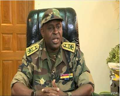General Robbinson Agha, commander of Cameroon troops fighting the separatists in Cameroons north west region. Bamenda, Cameroon, May 24, 2019.