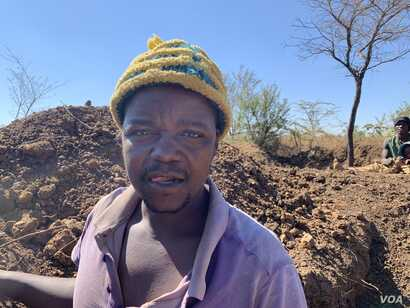 Piniel Ndingi-Nyoni is one of the illegal miners at Nugget Mine in Matopo district. The mine recently collapsed and killed four men.