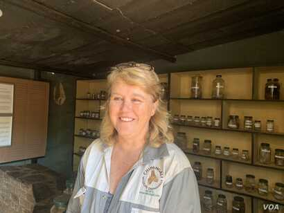 Nicky Wilson, co-director Chipangali Wildlife Orphanage about half an hour drive southeast of Bulawayo a special orphanage caring for the abandoned and injured offspring of local animals on April 20, 2019.