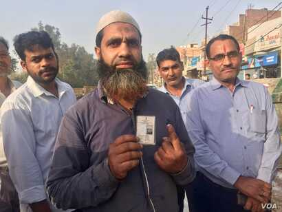 40-year-old Faimudadin, a Muslim voter in Gaziabad on New Delhi's outskirts says he has voted for a change in government.