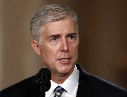 Judge Neil Gorsuch speaks in the East Room of the White House in Washington, Jan. 31, 2017, after President Donald Trump announced Gorsuch as his nominee for the Supreme Court.