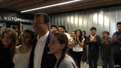 Ekrem Imamoglu of the opposition Republican People's Party (CHP) has proved popular, especially among the young in Istanbul.