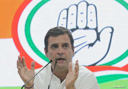 Rahul Gandhi, President of India's main opposition Congress party, addresses a news conference in New Delhi, India, May 23, 2019.