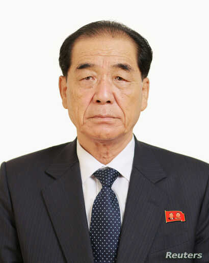 Pak Pong Ju, a member of the Presidium of the Political Bureau of the C. C., the Workers' Party of Korea, is pictured in this Korean Central News Agency handout photo released May 10, 2016.