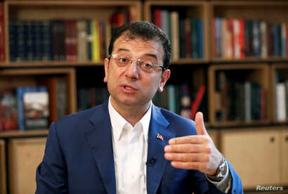 Ekrem Imamoglu, ousted Istanbul Mayor from the main opposition Republican People's Party (CHP), speaks during an interview with Reuters in Istanbul, Turkey, May 9, 2019.