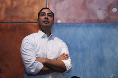 Julian Castro, former U.S. Secretary of Housing and Urban Development and candidate for the 2020 Democratic presidential nomination, during a campaign visit in Somersworth, N.H., Jan. 15, 2019.