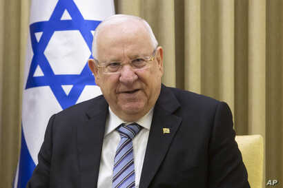FILE - Israel's President Reuven Rivlin is pictured at the president's residence in Jerusalem, Jan. 21, 2019.