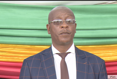 Ziyambi Ziyambi, Zimbabwe's justice minister, told VOA that he would not comment on the seven activists, as their case was now in court. Photo taken in May 2019 in Chinhoyi town. (C. Mavhunga/VOA)