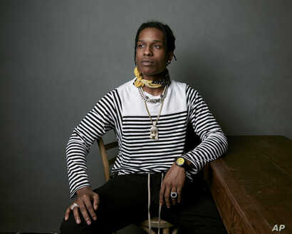 """A$AP Rocky poses for a portrait to promote the film """"Monster"""" at the Music Lodge during the Sundance Film Festival on Monday, Jan. 22, 2018, in Park City, Utah."""