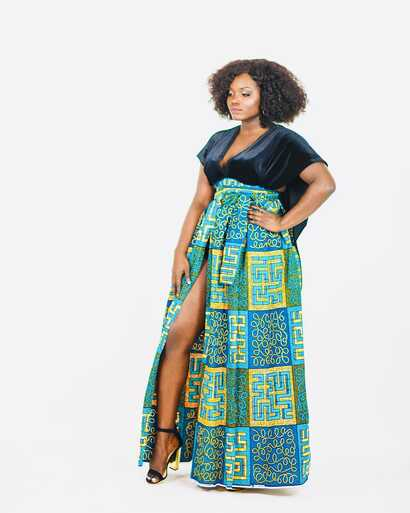 """Sara Duku, who said she once merely """"dabbled"""" in sewing,  created this design."""