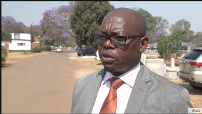 Michael Chideme, the spokesman for Harare, says the closure of its water plant was due to a lack of water treatment chemicals, Sept. 23, 2019. (C.Mavhunga/VOA)