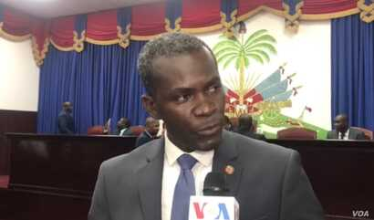 Ruling party Deputy Jean Michel Moïse criticizes opposition lawmakers, Sept 3, 2019