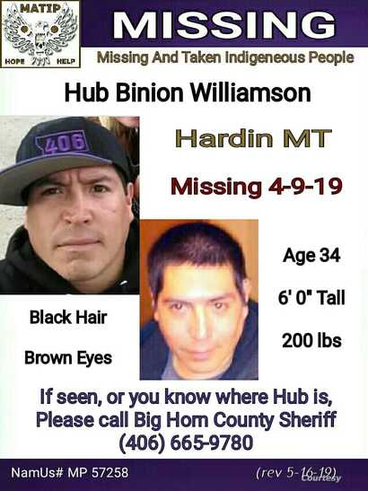 Hub Williamson Missing