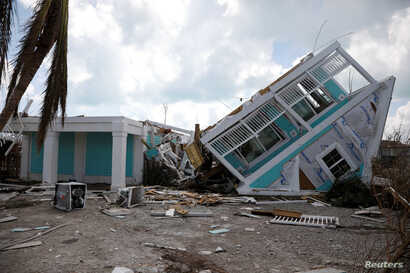 A destroyed house is seen after Hurricane Dorian hit the Abaco Islands in Treasure Cay, Bahamas, Sept. 7, 2019.
