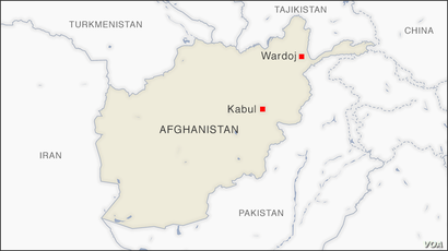 Map of Wordoj Afghanistan