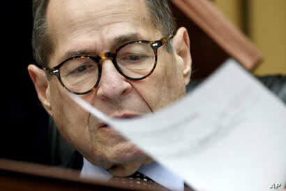 House Judiciary Committee chairman Rep. Jerrold Nadler of N.Y., turns a paper as he gives an opening statement, before Corey Lewandowski, former campaign manager for President Donald Trump, testifies to the House Judiciary Committee, Sept. 17, 2019.