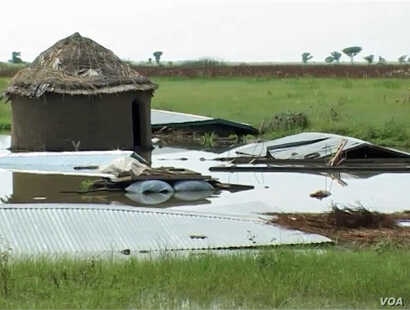 Effects of floods in Kaikai village, northern Cameroon