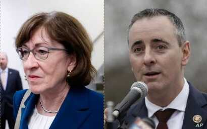 From left, Senator Susan Collins of Maine and Congressman Brian Fitzpatrick of Pennsylvania.
