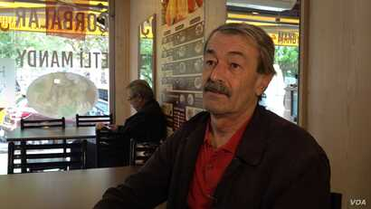 Isam Abdi escaped to Istanbul, the Syrian civil war and opened a restaurant. With his children at Universities and a successful business he doesn't plan to return. (Dorian Jones/VOA)