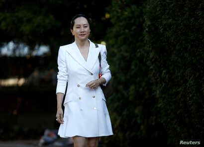 FILE PHOTO: Huawei Technologies Chief Financial Officer Meng Wanzhou leaves her home to appear in British Columbia supreme…