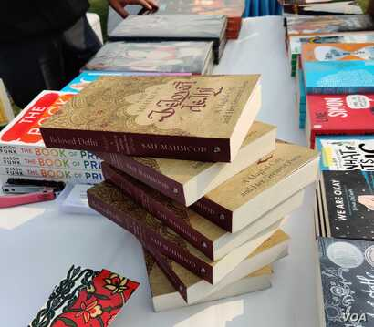 The festival which focused on queer literature displayed a range of titles, old and new. (Anjana Pasricha/VOA)