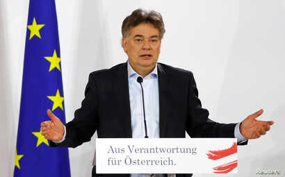 Head of Austria's Green Party Werner Kogler delivers a statement in Vienna, Austria January 2, 2020. REUTERS/Leonhard Foeger -…