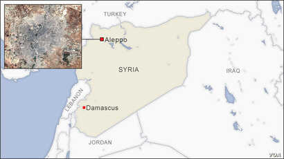 Map of Aleppo Syria