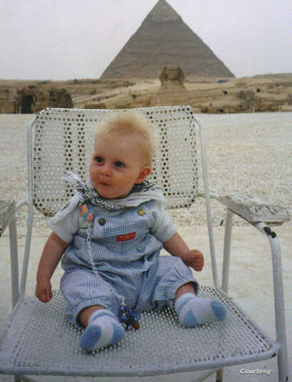 Journalist Kathleen Struck's son, Jack, was at the pyramids in Cairo with her the day before a shooting there that left 18 tourists dead.