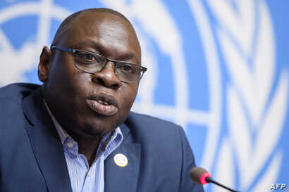 World Health Organization Assistant Director-General Ibrahima Soce-Fall speaks at a press conference on the WHO Ebola operations in the Democratic Republic of Congo, March 6, 2020, in Geneva, Switzerland.