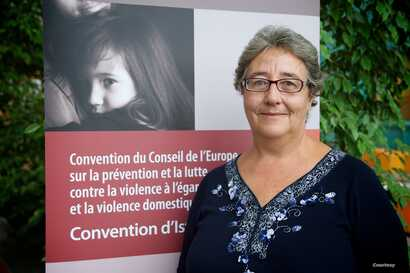 Marceline Naudi, president of GREVIO, the Council of Europe's expert group on violence against women, is seen in an undated photo. (Courtesy - Council of Europe)