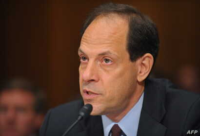 FILE - Glenn Fine, Inspector General of the U.S. Department of Justice,testifies before the Senate Judiciary Committee during a hearing on Patriot Act re-authorization, Sept. 23, 2009, on Capitol Hill in Washington, D.C.