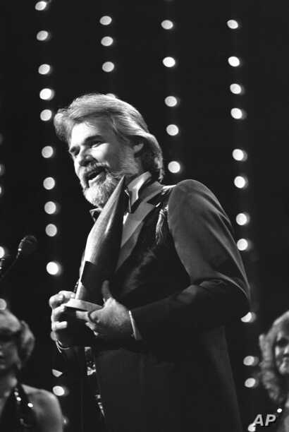Kenny Rogers was selected male vocalist of the year at the 13th annual Country Music Association Award show in Nashville, Oct…