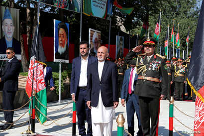 Afghan President Ashraf Ghani attends Afghan Independence Day celebrations in Kabul, Afghanistan, Aug. 19, 2019.