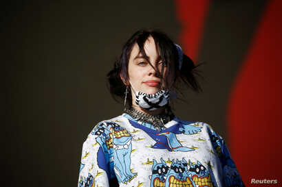 American singer Billie Eilish performs on the Other Stage during Glastonbury Festival in Somerset, Britain June 30, 2019…