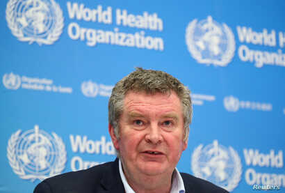 Michael J. Ryan, Executive Director of the WHO Health Emergencies Programme attends the news conference on the novel coronavirus (2019-nCoV) in Geneva, Switzerland, Feb. 11, 2020.