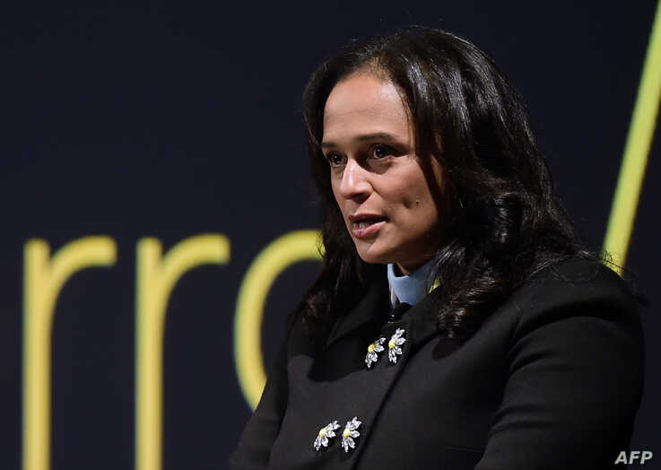 FILE - Angolan businesswoman Isabel dos Santos delivers a speech during the start of the new EFACEC Portuguese corporation's electric mobility industrial unit on Feb. 5, 2018 in Maia.
