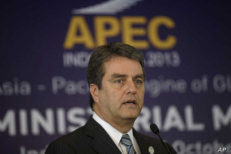 WTO Director-General Roberto Azevedo on sidelines of the Asia-Pacific Economic Cooperation (APEC) Ministerial Meeting, Bali, Oct. 5, 2013.