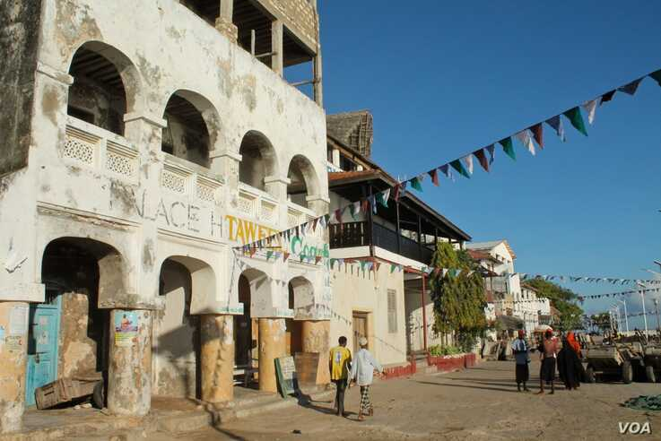 Lamu's picturesque harbor area is a magnet for tourists, a
