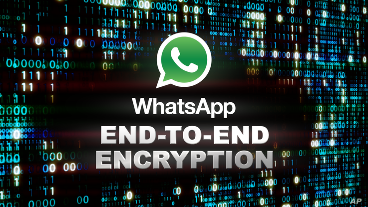 WhatsApp logo and END-TO-END ENCRYPTION