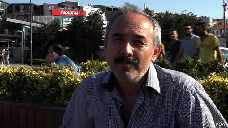 Mustafa, an AK Party supporter, believes the Istanbul defeat is a sign Erdogan and the AKP has lost its way. (DJones/VOA)