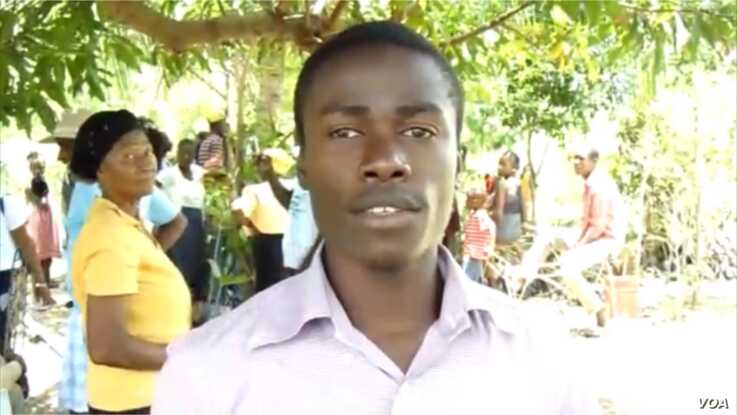Samson Croisiere,who lives in Béret expressed the town's gratitude and promised to take care of the gifted trees.